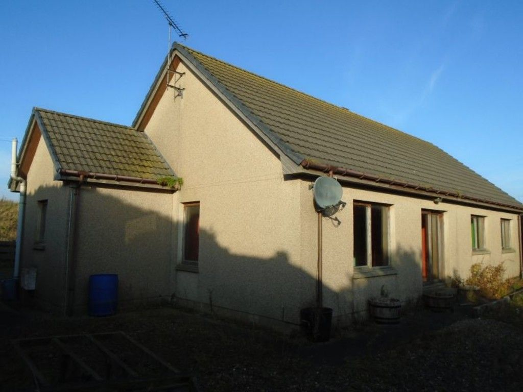 side view of rural house