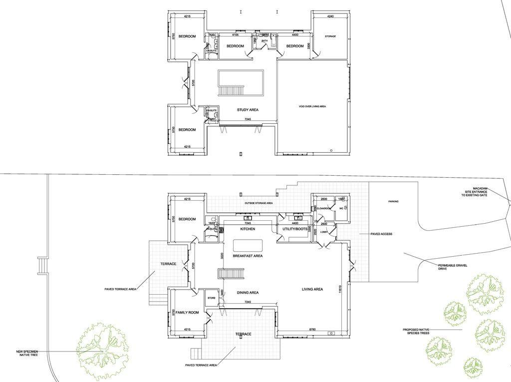 Floor-plan layout of barn