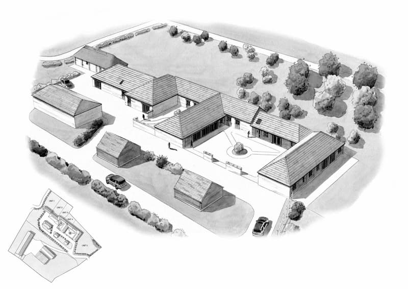 plans of a building outside