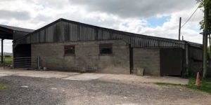 Milking parlour to be converted to a single dwelling under class Q approval.