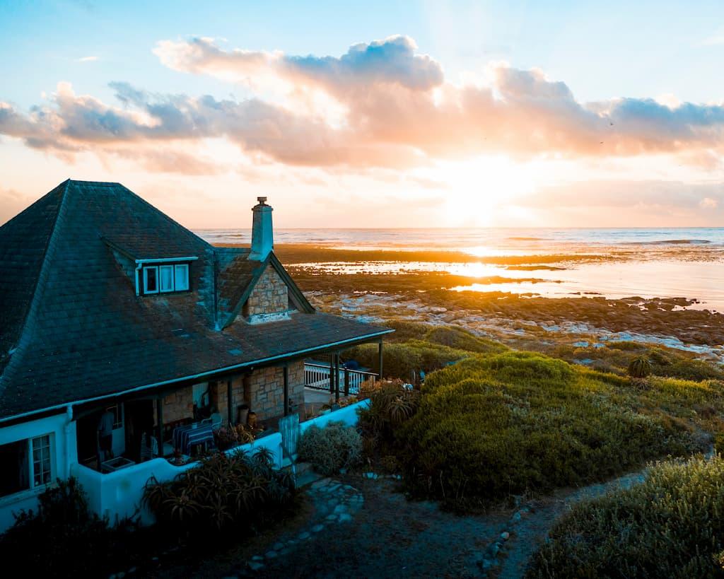 Rural home by seaside