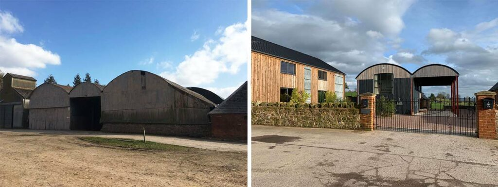before and after of a barn conversion